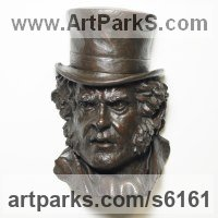 Painted plaster polymer Literary and Musical Characters sculpture by James Matthews titled: 'Bill Sikes (High Relief Face Portrait Dickens character Wall sculpture)'