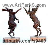 Bronze Wild Animals and Wild Life sculpture by Jan Sweeney titled: 'March up and March Down'