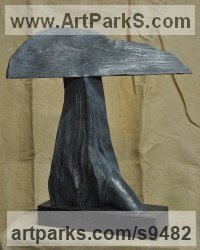 Bronze Interior, Indoors, Inside sculpture by jasper lyon titled: 'Cloud (Cast Bronze Weather Rain Storm sculpture)'