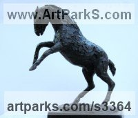 Circus / Stage Performer Sculpture or Statues by sculptor artist Jill Tweed titled: 'Circus (bronze Prancing Little Circus Horse statuettes/statues)' in Bronze