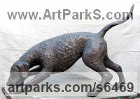 Bronze Dog sculpture by Jill Tweed titled: 'Hound (bronze Fox Hound or Pet Dog sculpture/statue/commission)'