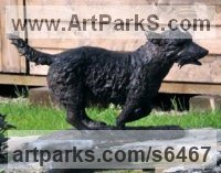 Bronze Dog sculpture by Jill Tweed titled: 'Terrier (bronze Running Dog Outdoor/Indoor garden sculpture/statue)'