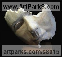 Bronze Stylised Heads / Busts sculpture by Jilly Sutton titled: 'Fragment (Fractured female Face abstract sculptures)'