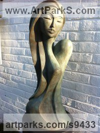 Patina Bronze Resin Peace Sculptures or Statues or statuettes sculpture by Jo Ansell titled: 'Valentina'