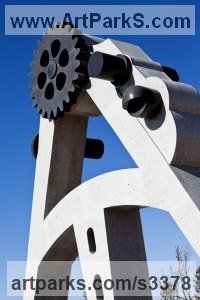 Monumental Sculpture by sculptor artist John Atkin titled: 'The Road Not taken (abstract Public sculpture)' in Granite