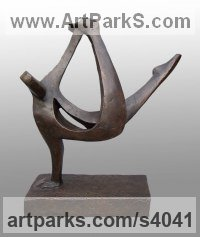 Bronze Resin Dance Sculptures and Ballet sculpture by sculptor John Brown titled: 'Break Dance (abstract Contemporary figurative statues/sculptures)'
