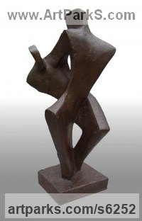 Bronze Resin Dance Sculptures and Ballet sculpture by John Brown titled: 'Jive (Contemporary abstract Dance statue by John Brown)'