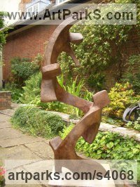 Bronze Resin Love / Affection sculpture by John Brown titled: 'Joy of the Family (Modern Minimalist abstract statue)'