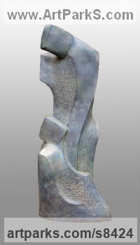 Bronze Resin Abstract Contemporary Modern Outdoor Outside Garden / Yard Sculptures Statues statuary sculpture by John Brown titled: 'Romance (Contemporary abstract Lovers garden sculpture)'