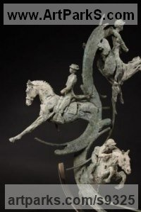 Sculptures of Sport in General by Judy Boyt titled: 'Celebrating Sporting Moments 2012 Olympic Equestrain statue'