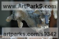Bronze Dogs sculpture by sculptor Judy Boyt titled: 'Mitze - Wire haired Dacshund'