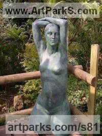 Resin Females Women Girls Ladies sculpture statuettes figurines sculpture by sculptor K. Jane Jones titled: 'Blue Venus'