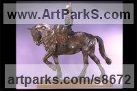 Bronze Military, Soldiers, Sailors, Marines Airmen and Military Equipment sculpture by Kathleen Friedenberg titled: 'Drum Horse (Fully Mounted and Accoutered statuette)'