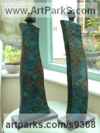 Bronze resin Couples or Group sculpture by Kay Singla titled: 'Made for Each other'