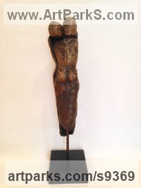 Bronze Resin Human Form: Abstract sculpture by Kay Singla titled: 'Soulmates'