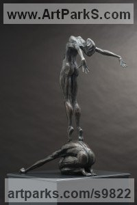 Bronze Indoor figurative sculpture by Keith Calder titled: 'Conception 2'