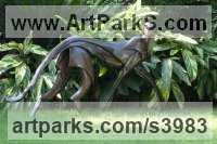 Bronze African Animal and Wildlife sculpture by Keith Calder titled: 'life size Cheetah (abstract Bronze sculpture)'