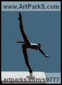 Bronze Dance Sculptures and Ballet sculpture by Kelsey titled: 'File #197 Gary'