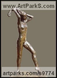 Bronze Indoor figurative sculpture by Kelsey titled: 'File #222 MacMillan'
