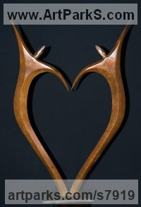 Bronze Wedding Anniversary Gift or Present Sculptures Statues statuettes sculpture by Ket Brown titled: 'AMOUREUX - (IN LOVE)'