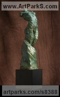 Bronze Figurative Abstract Modern or Contemporary Sculptures Statues statuary statuettes figurines sculpture by Lara Chamberlain titled: 'The Wandering Psyche (small nude female torso statuette)'