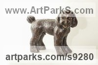 Bronze Small Animal sculpture by Li-Jen SHIH titled: 'Miro (Young Dog or Puppy)'