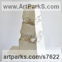 Ceramics Ceramic sculpture by Liliya Pobornikova titled: 'Mountains'
