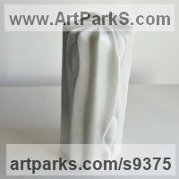 Marble sculpture Column Pillar Columnar Stele sculpture statue statuary sculpture by Liliya Pobornikova titled: 'Spring 2'