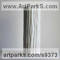 Marble sculpture Angular Abstract Modern Contemporary sculpture statuary sculpture by Liliya Pobornikova titled: 'Spring 1'