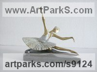 Bronze Musician and Musical sculpture by Liubka Kirilova titled: 'Ballerina (female Ballet Dancer statuette statues)'