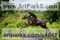 Bronze Polo Pony and Pony sculpture / statue / statuette / figurine / ornament Portraits Commissions Memorials sculpture by Lorne Mckean titled: 'Adolfo Cambiaso on Aiken Cura (Champion Polo sculptures/statues/Bronze)'