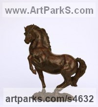 Bronze Polo Pony and Pony sculpture / statue / statuette / figurine / ornament Portraits Commissions Memorials sculpture by Lorne Mckean titled: 'New Forest Stallion (Pawing Ground statue sculpture)'