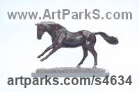 Bronze Horse Sculpture / Equines Race Horses Pack HorseCart Horses Plough Horsess sculpture by Lorne Mckean titled: 'Playing Jack (Small Bronze Prancing Horse sculptures)'