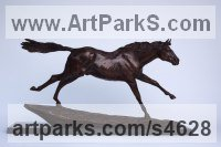 Bronze Horse Sculpture / Equines Race Horses Pack HorseCart Horses Plough Horsess sculpture by Lorne Mckean titled: 'Running Free (Small Bronze Horse/Equine sculptures)'