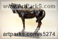 Bronze Horse and Rider / Jockey Sculpture / Equestrian sculpture by Lorne Mckean titled: 'Sidesaddle Mare called Milly (Small statue statuette)'