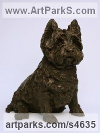 Bronze Dog sculpture by Lorne Mckean titled: 'West Highland Terrier (bronze Portrait Pet sculptures)'