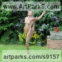 Chicken wire Wire(Mesh Netting Chicken) Metal Rod or Bar or Tube sculpture by Louis McDonald titled: 'Expression to the world (ballet Ballerina statue)'