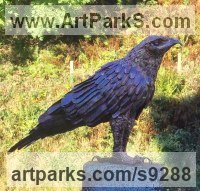 Copper copper phosphor braze African Animal and Wildlife sculpture by Lynn Mahoney titled: 'Golden eagle'
