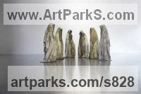 Human Form: Abstract sculpture by Manfred Kielnhofer titled: 'the guardians of time on worldtournee'