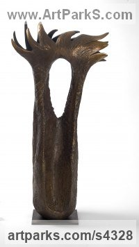 Bronze Organic / Abstract sculpture by Marianne Weil titled: 'Andaluza (abstract bronze Coral sculpture statuette)'