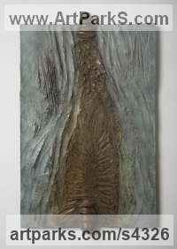 Bronze Wall Mounted or Wall Hanging sculpture by Marianne Weil titled: 'Caelestis (bronze Wall Mounted abstract Plaque Arts)'