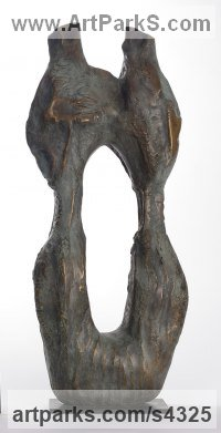 Bronze Couples or Group sculpture by Marianne Weil titled: 'Los Millares (bronze figurative abstract Art statue)'