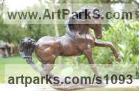 Small Animal Sculpture by sculptor artist Marie Ackers titled: 'Storm (Stallion sculpture/statuettes/figurines/statue Small bronze)' in Bronze