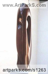 Bronze Abstract Fish sculpture by Marko Humphrey-Lahti titled: 'Fish of Gozo (Modern Contemporary abstract statue)'