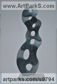 Kanyakumari Green Granite Organic / Abstract sculpture by Mark Stonestreet titled: 'Cirly Whilrley'
