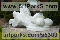 Italian Carrera Marble Nude or Naked Couples or Lovers sculpture by Mark Yale Harris titled: 'As One (Carved marble stone abstract Lovers statues)'