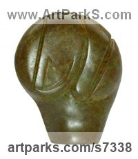 Bronze Mythical sculpture by Marko Humphrey-Lahti titled: 'African Mask IV'