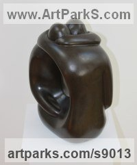 Bronze resin Couples or Group sculpture by Marko Humphrey-Lahti titled: 'Hugging Couple XX (abstract Lovers statues)'