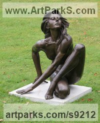 Bronze Nudes, Female sculpture by Martin Duffy titled: 'FLUIDITY'