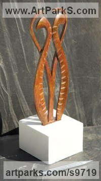 Metal Fabricated Metal Abstract sculpture by Martin Hayward-Harris titled: 'Featherform [4823]'